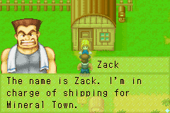 Harvest Moon - More Friends of Mineral Town - Cut-Scene  - zack - User Screenshot